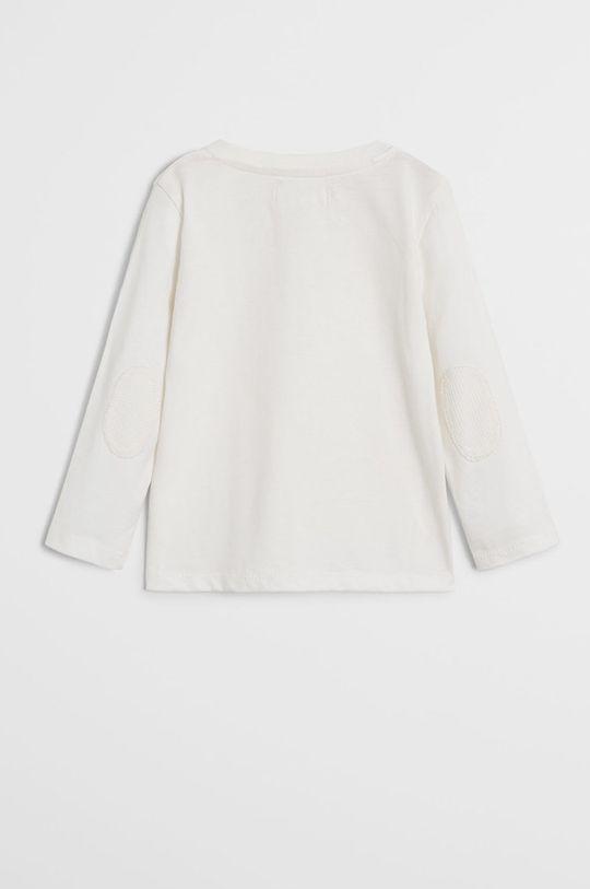 Mango Kids - Detské tričko s dlhým rukávom Duran 80-104 cm biela
