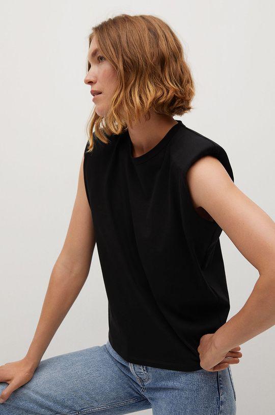 czarny Mango - T-shirt Hambro7 Damski