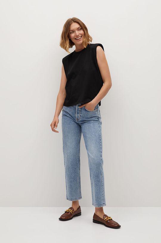 Mango - T-shirt Hambro7 czarny