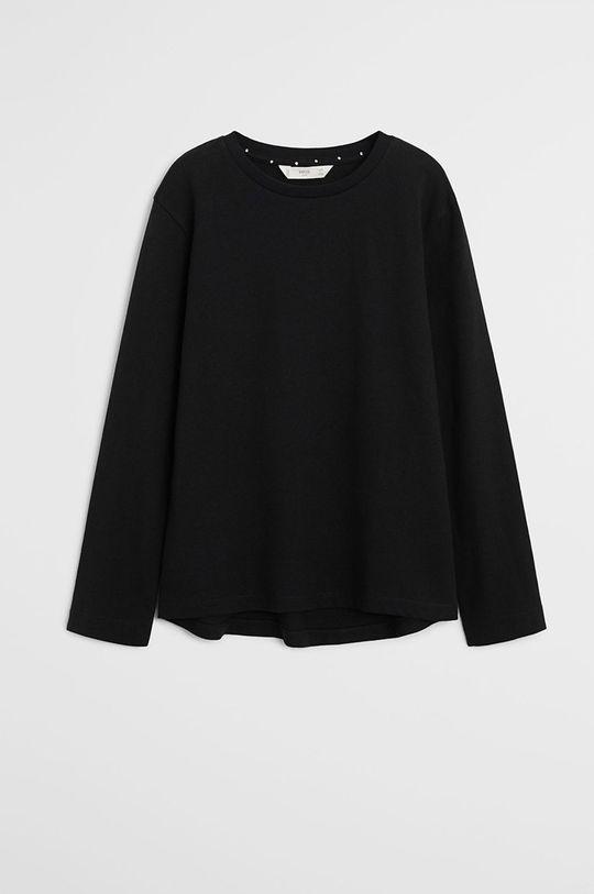 čierna Mango Kids - Detské tričko s dlhým rukávom Basica 110-164 cm Dievčenský
