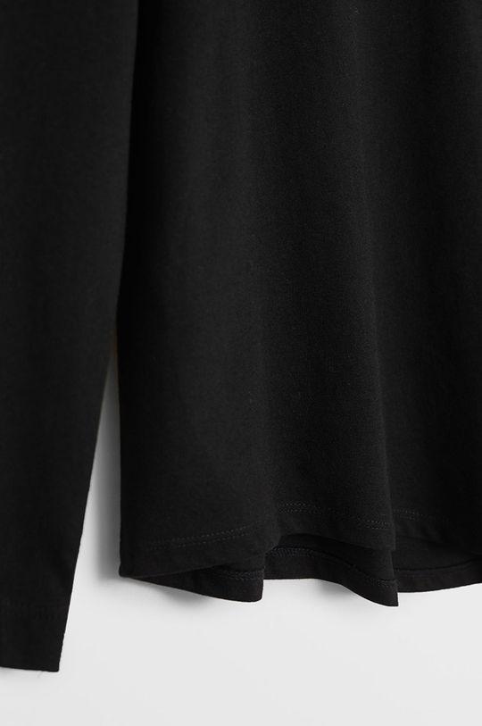 Mango Kids - Detské tričko s dlhým rukávom Basica 110-164 cm čierna