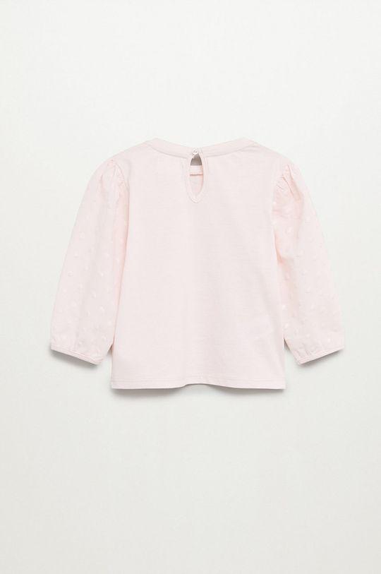 Mango Kids - Detská blúzka Plumel 80-104 cm ružová