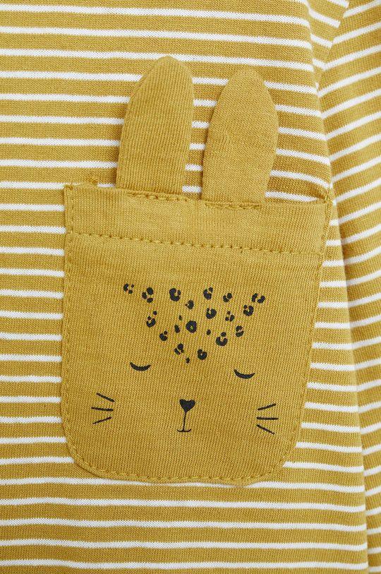 Mango Kids - Detské tričko s dlhým rukávom Cami 80-104 cm žltá