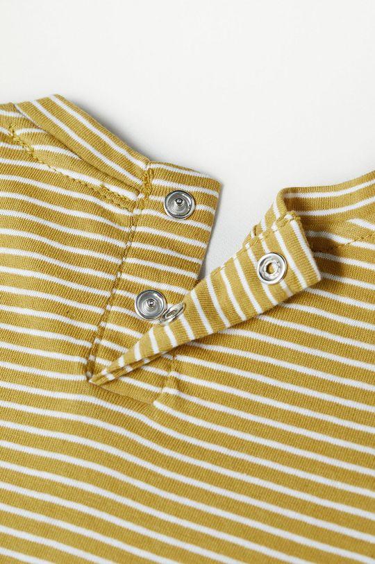 žltá Mango Kids - Detské tričko s dlhým rukávom Cami 80-104 cm