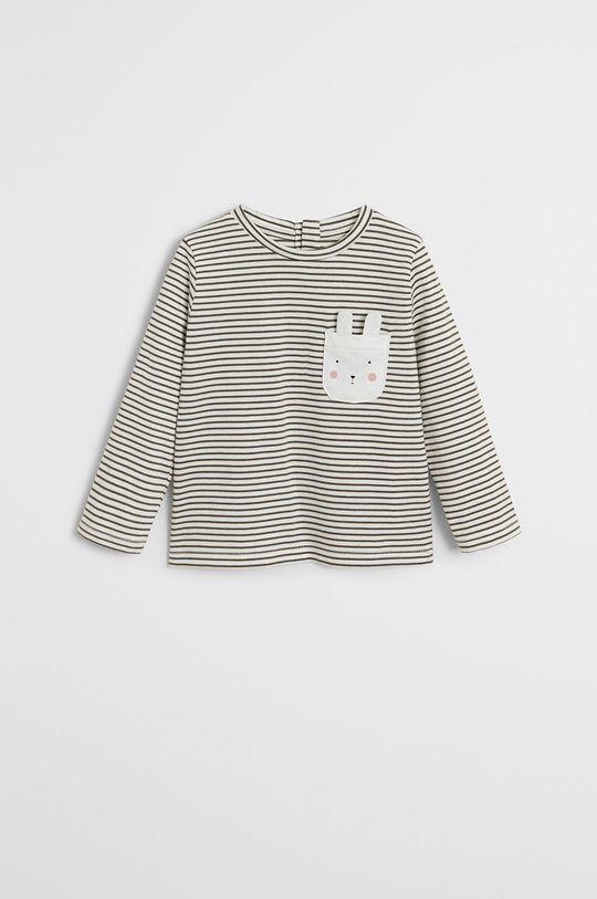 sivá Mango Kids - Detské tričko s dlhým rukávom Cami 80-104 cm Dievčenský