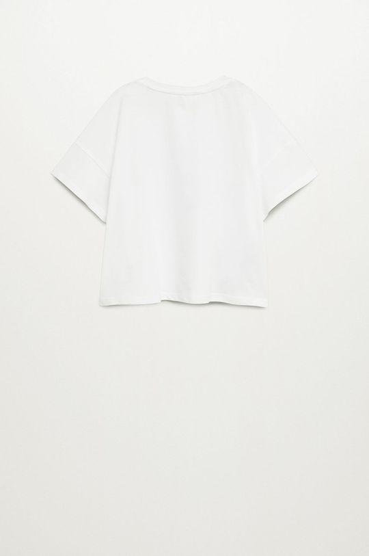 Mango Kids - Tricou copii Star 110-164 cm alb