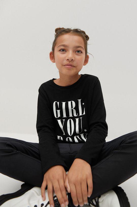 čierna Mango Kids - Detské tričko s dlhým rukávom Sheldon 110-164 cm Dievčenský