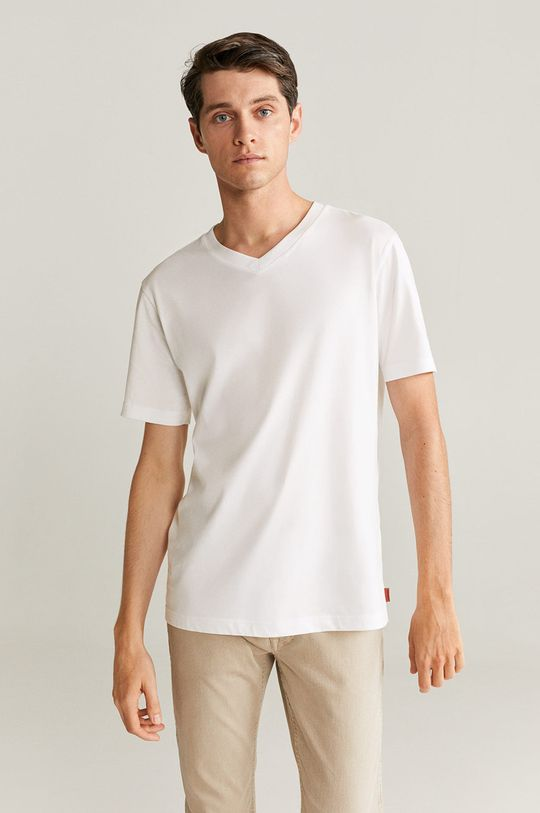 alb Mango Man - Tricou Chelsea De bărbați