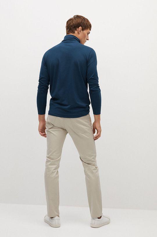 Mango Man - Tričko s dlouhým rukávem LUTON  46% Bavlna, 8% Elastan, 46% Modal