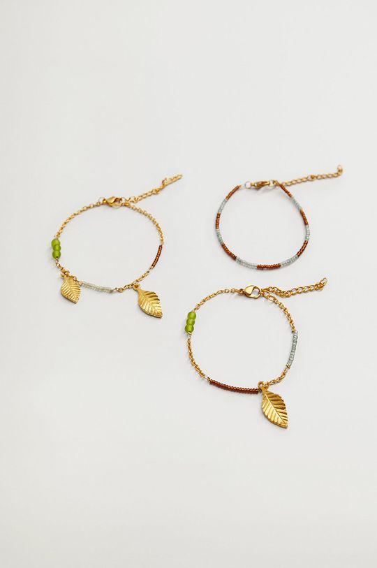 złoty Mango - Bransoletki ARENAL (3-Pack) Damski