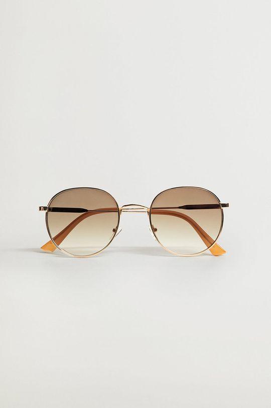 Mango - Okulary przeciwsłoneczne Brooklyn złoty