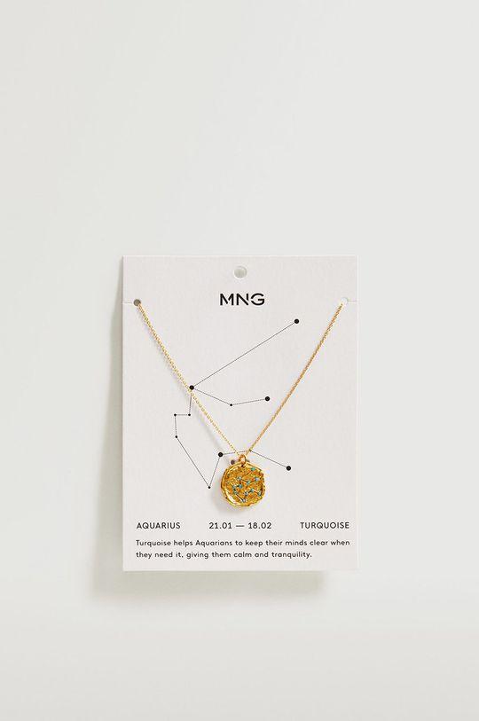 Mango - Naszyjnik AQUARIUS złoty
