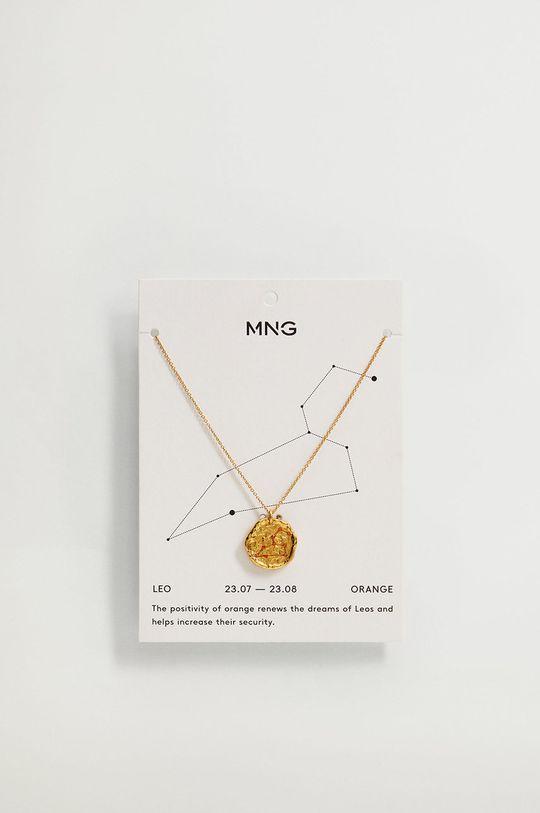 Mango - Naszyjnik LEO złoty