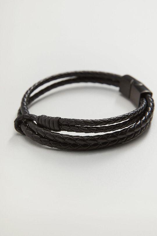 Mango Man - Bransoletka Hook czarny