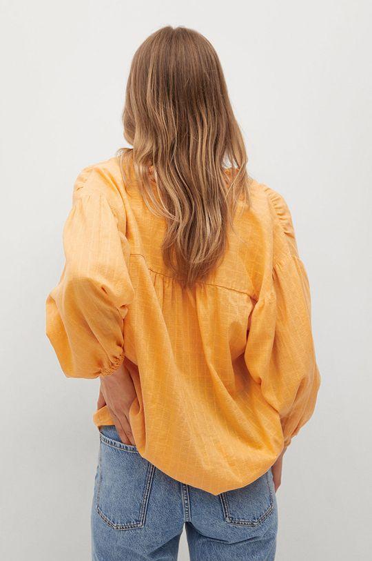 Mango - Bluzka bawełniana Waves 100 % Bawełna