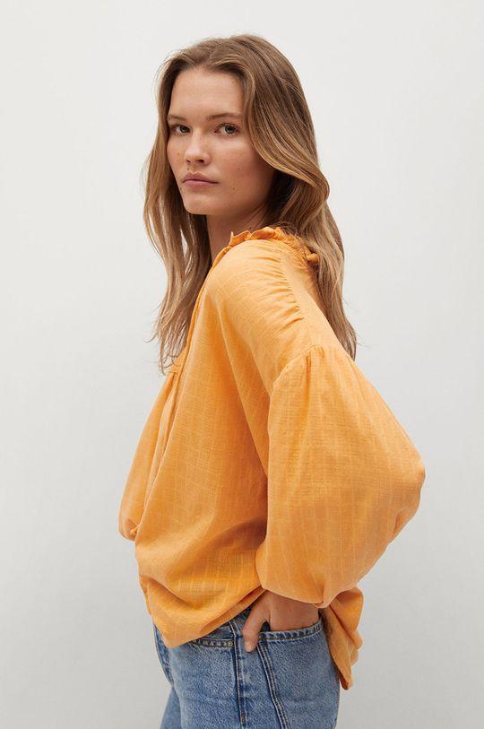 Mango - Bluzka bawełniana Waves Damski