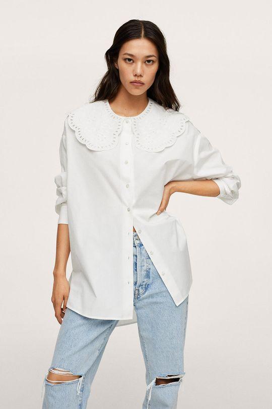 biały Mango - Koszula bawełniana Best Damski