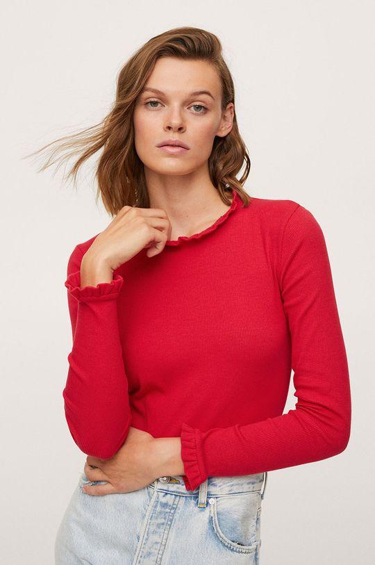 červená Mango - Tričko s dlouhým rukávem Star Dámský