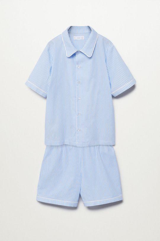 blady niebieski Mango Kids - Piżama dziecięca Class Chłopięcy