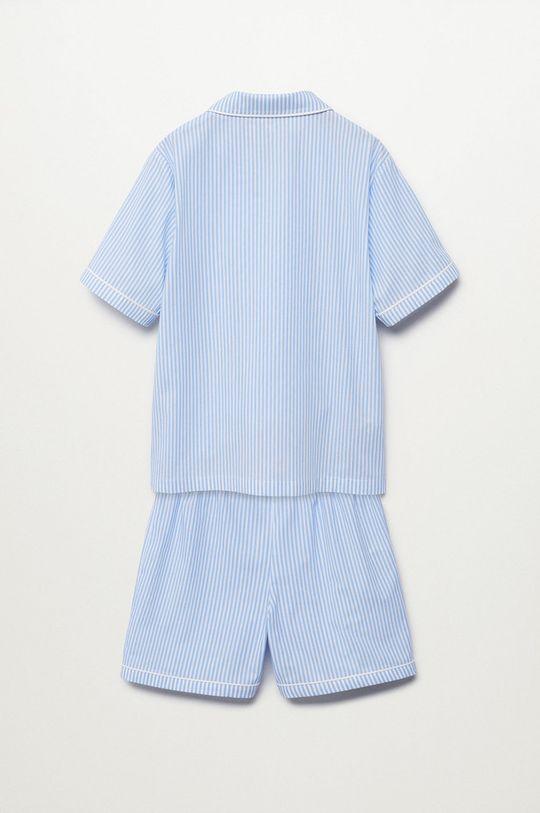 Mango Kids - Piżama dziecięca Class blady niebieski