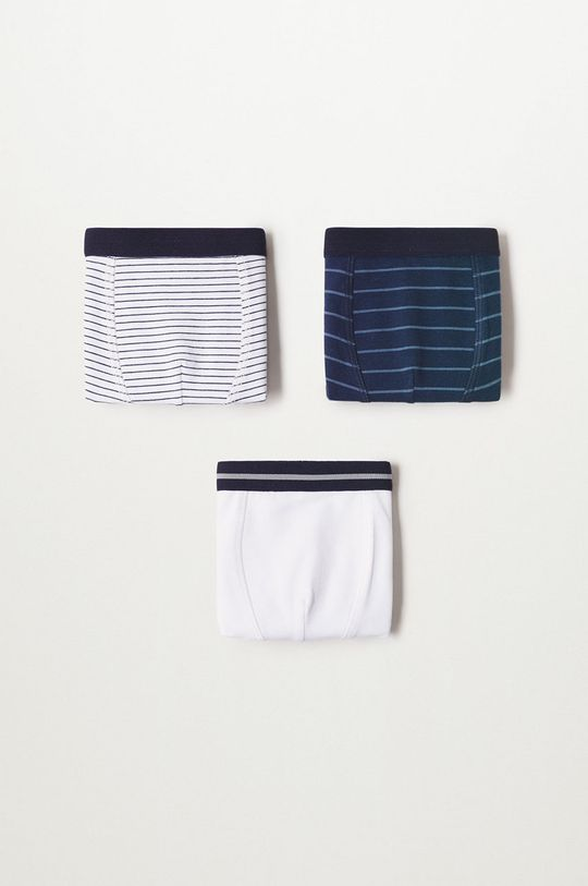 bleumarin Mango Kids - Boxeri copii Stripes (3-pack) De băieți