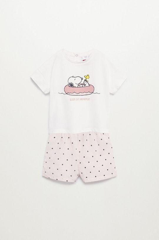 bílá Mango Kids - Dětské pyžamo Snoopyb 80-104 cm Dívčí