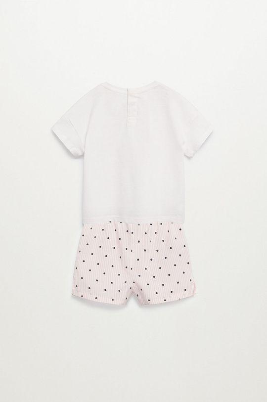 Mango Kids - Dětské pyžamo Snoopyb 80-104 cm bílá