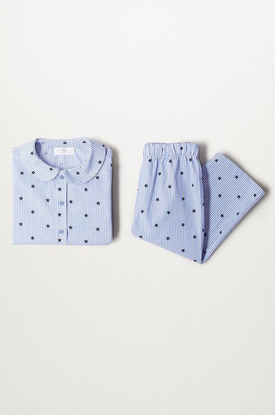 albastru pal Mango Kids - Pijama copii Oliviab De fete