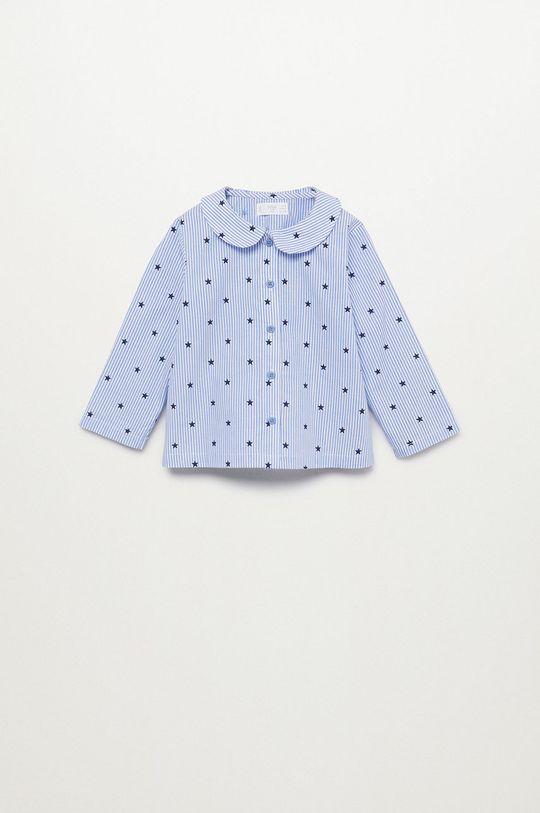 Mango Kids - Pijama copii Oliviab albastru pal