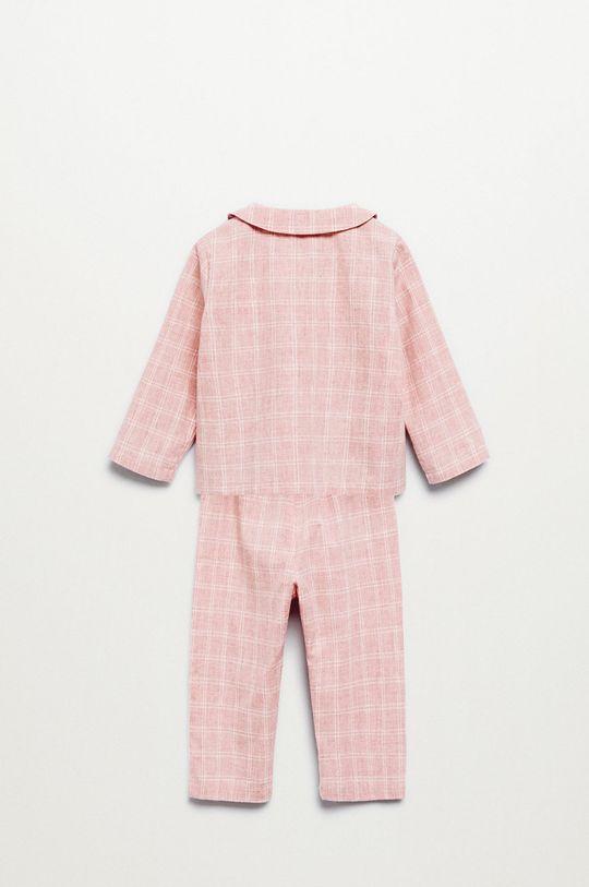 Mango Kids - Pijama copii Caria roz