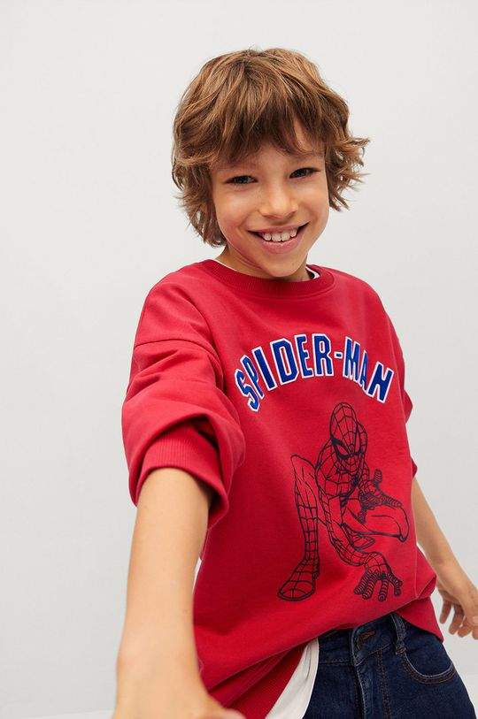 czerwony Mango Kids - Bluza bawełniana dziecięca Spider 116-152 cm Chłopięcy
