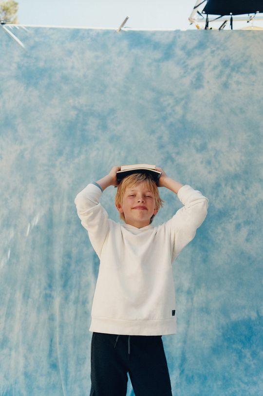 biela Mango Kids - Detská bavlnená mikina Eddie