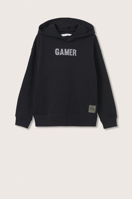 czarny Mango Kids - Bluza bawełniana dziecięca Gamer Chłopięcy