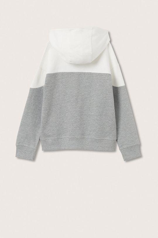 Mango Kids - Bluza bawełniana dziecięca Embossed biały
