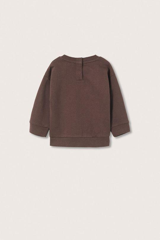 Mango Kids - Bluza bawełniana dziecięca Brown brązowy
