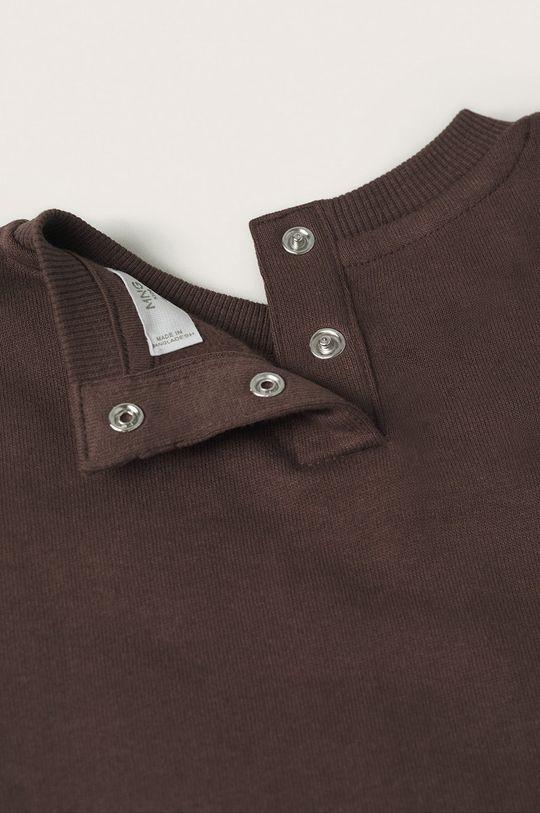 brązowy Mango Kids - Bluza bawełniana dziecięca Brown