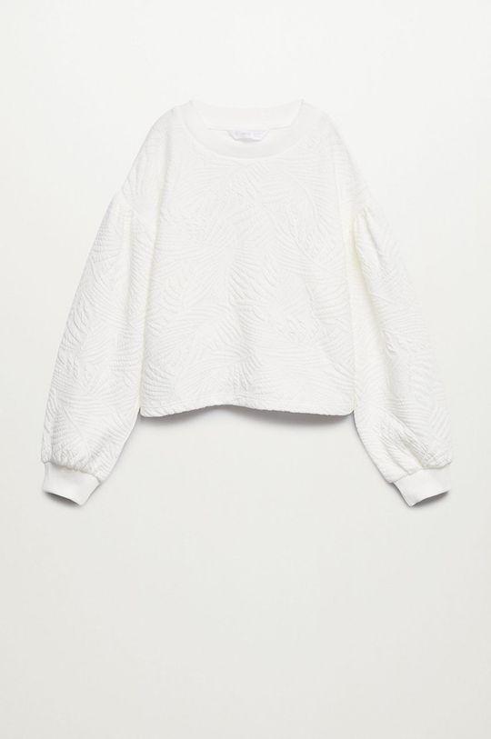 Mango Kids - Bluza dziecięca Malibut 116-164 cm biały