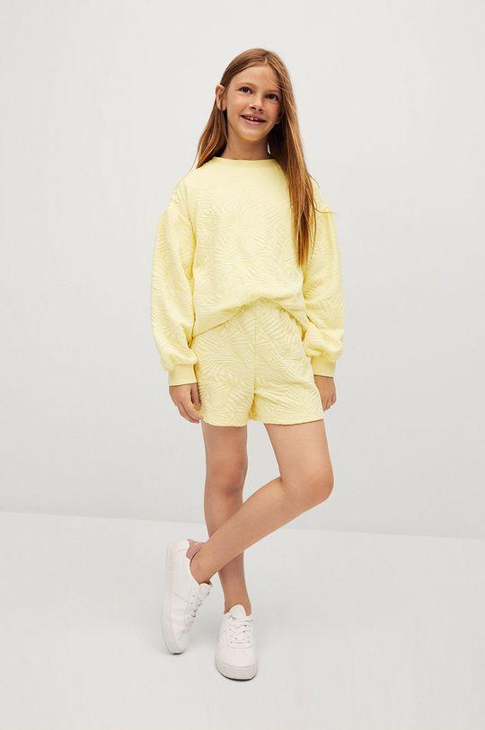 żółty Mango Kids - Bluza dziecięca Malibut 116-164 cm Dziewczęcy