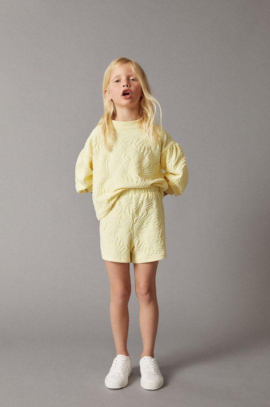 Mango Kids - Bluza dziecięca Malibut 116-164 cm żółty