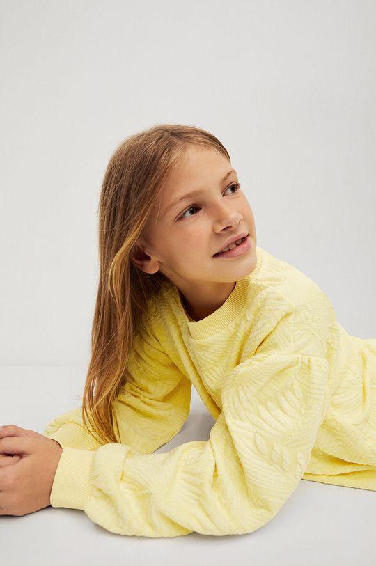 żółty Mango Kids - Bluza dziecięca Malibut 116-164 cm