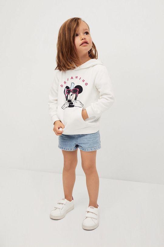 Mango Kids - Bluza bawełniana dziecięca Mdream 80-116 cm biały