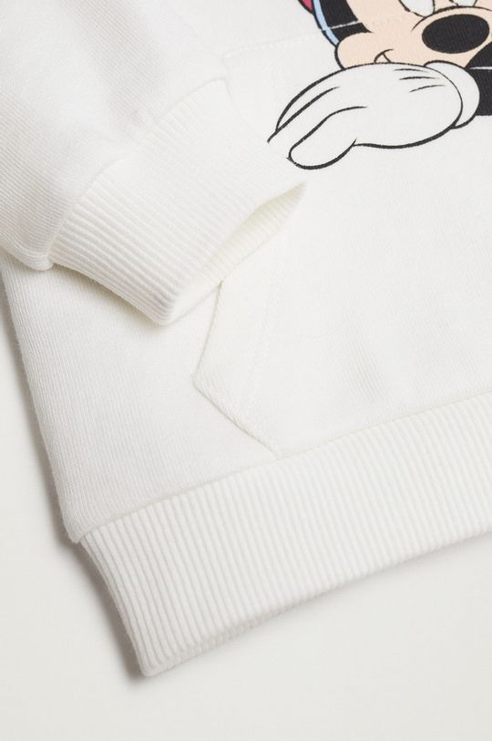 biały Mango Kids - Bluza bawełniana dziecięca Mdream 80-116 cm