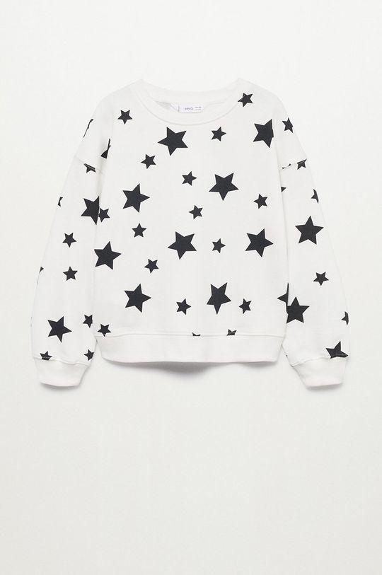 biały Mango Kids - Bluza bawełniana dziecięca Nonna Dziewczęcy