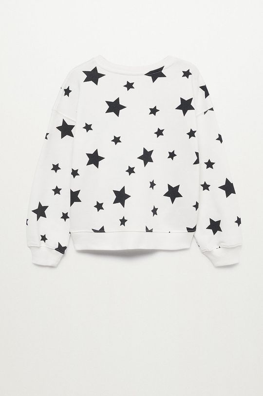 Mango Kids - Bluza bawełniana dziecięca Nonna biały