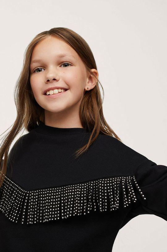 Mango Kids - Bluza bawełniana dziecięca Fringe Materiał zasadniczy: 100 % Bawełna, Inne materiały: 50 % Poliamid, 50 % Poliuretan