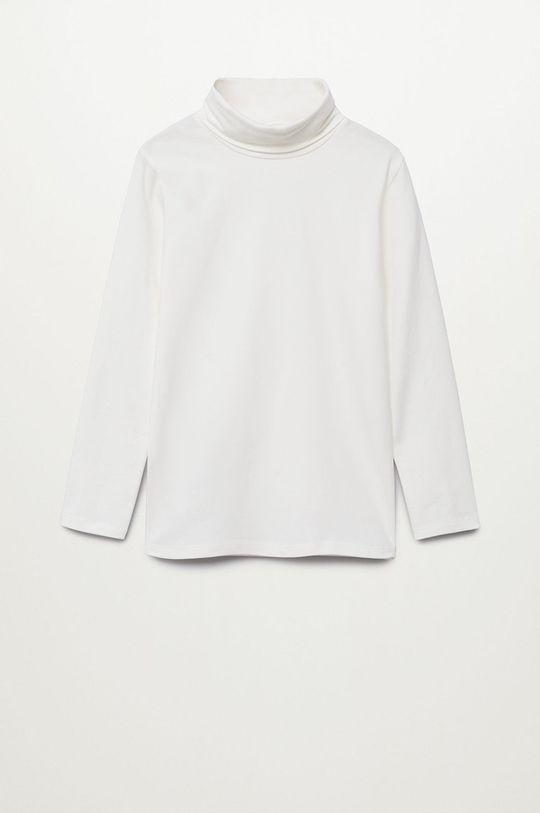 bílá Mango Kids - Dětské tričko s dlouhým rukávem Turbo1 Chlapecký