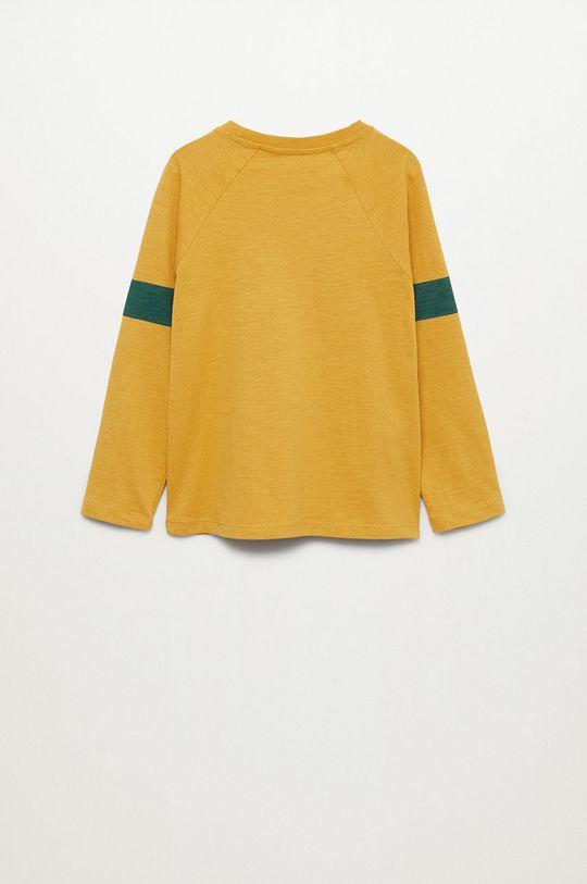 Mango Kids - Dětská bavlněná košile s dlouhým rukávem League žlutá