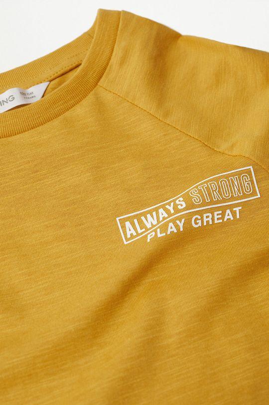 Mango Kids - Dětská bavlněná košile s dlouhým rukávem League  100% Bavlna