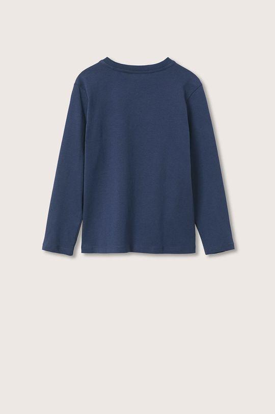 Mango Kids - Dětská bavlněná košile s dlouhým rukávem Spencer námořnická modř