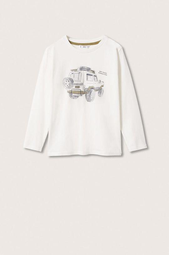 bílá Mango Kids - Dětská bavlněná košile s dlouhým rukávem Jeep Chlapecký